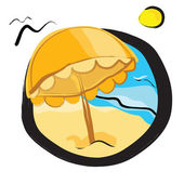 Summer on the beach — Stock Vector