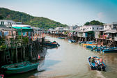 Town on river in Hong Kong — Stock Photo