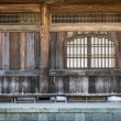 Japanese wooden temple interior details — Stock Photo #41358661
