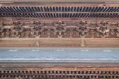 Dettagli interni del tempio giapponese in legno — Foto Stock