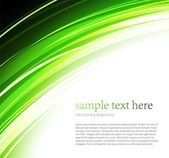 Abstract green wave background — Stock Vector