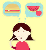 Deciding the diet — Stock Vector