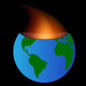 Planet burned — Stock Vector