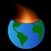 Planet burned — Stock Vector