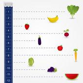 Measuring diet — Stock Vector