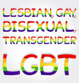 Lesbian, gay, bisexual, transgender, lgbt phrase — Stock Vector