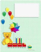 Kids Card toys — Stock Vector
