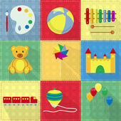 Colorful toy icons — Stock Vector