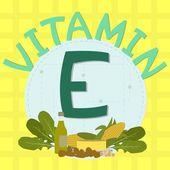 Colorful design of vitamin e — Stock Vector