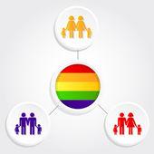 Diversity family — Stock Vector