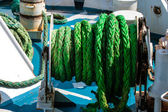 Rope on a ship — Stock Photo