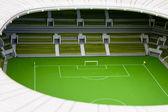 Disign footbal stadium — Stock Photo