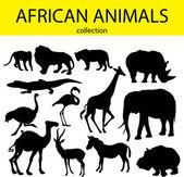 アフリカの動物 — ストックベクタ
