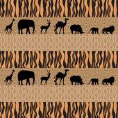 アフリカの背景 — ストックベクタ