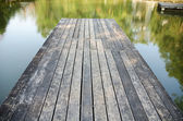 Wooden Bridge to the lake — Photo