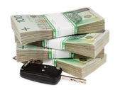 Peníze polský zlotý — Stock fotografie