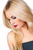 Portrét krásné blond girl — Stock fotografie