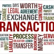 Stock Photo: TRANSACTION - word cloud