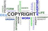 COPYRIGHT - Word Cloud — Stock Vector