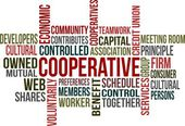 COOPERATIVE - word cloud — Stock Vector