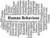HUMAN BEHAVIOR - word cloud — Stock Vector