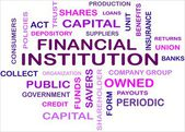 FINANCIAL INSTITUTION - word cloud — Stock Vector