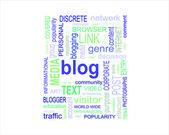 BLOG - word cloud — Vector de stock