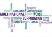 MULTINATIONAL CORPORATION - word cloud — Vettoriale Stock