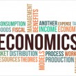 Stock Vector: ECONOMICS - word cloud