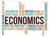 ECONOMICS - word cloud — Stock Vector