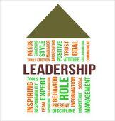 LEADERSHIP - word cloud — Stock Vector