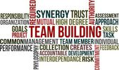 TEAM BUILDING - word cloud — Stock Vector