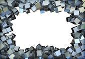 Metal squares — Stock Photo