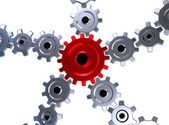 Gears 3d — Stock Photo