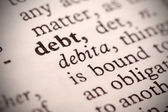 Debt Definition — Stock Photo