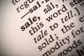 Definição de venda — Fotografia Stock