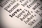 Love Definition — Stock Photo