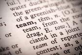 Team Definition — Stock Photo