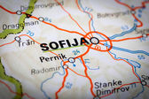 Sofija on a road map — Foto Stock