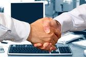 Business Handshake in Office — Stock Photo