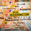 Washington stad over een routekaart — Stockfoto #47083533
