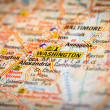 Washington stad over een routekaart — Stockfoto #47083635