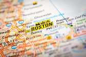 Boston City on a Road Map — Stock Photo