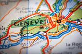 道路地図にジュネーブ市 — ストック写真