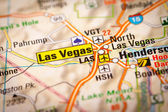Las Vegas City on a Road Map — Stock Photo