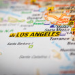 Los Angeles City on a Road Map — Stock Photo #51156477