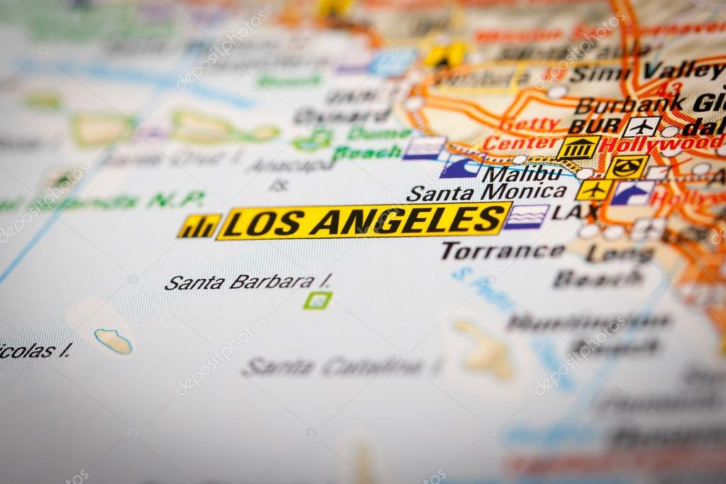 Los Angeles City Map Google Map Photography Los Angeles City on a Road ma Photo by Marcoscisetti