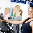 Brunette girl working out — Stock Photo