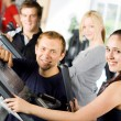 Personal trainers giving instruction — Stock Photo #41839655