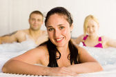 Friends in the jacuzzi — Foto Stock